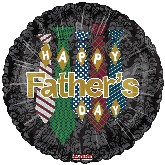 "18"" Happy Father&#39s Day Balloon 5 Ties"