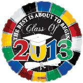 "18"" The Best is About to Begin Class of 2013"