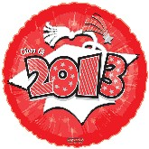 "18"" Class of 2013 Graduation Balloon Red"