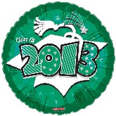 "18"" Class of 2013 Graduation Balloon Green"