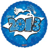 "18"" Class of 2013 Graduation Balloon Blue"