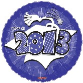 "18"" Class of 2013 Graduation Balloon Purple"