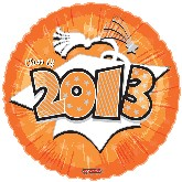 "18"" Class of 2013 Graduation Balloon Orange"