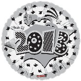 "18"" Class of 2013 Graduation Balloon White"
