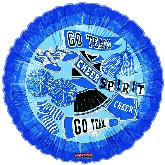 "18"" Pretty Sporty Chear Spirt Go Team Blue Balloon"