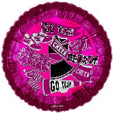 "18"" Pretty Sporty Chear Spirt Go Team Maroon Balloon"