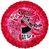 "18"" Pretty Sporty Chear Spirt Go Team Red Balloon"