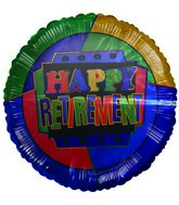 "18"" Colorful Happy Retirement Good Luck Balloon"