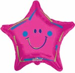 "9"" Airfill Only Smiley Magenta Balloon"