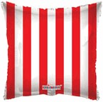 "18"" Red Striped Balloon"