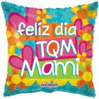 "4"" Airfill Balloon Only Tqm Mami Flores Y Corazon"