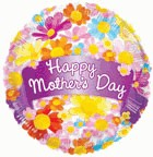 "18"" Balloon Happy Mother&#39s Day Banner & Flowers"