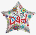 "36""  Greatest Dad Star Balloon"