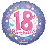 "18""  Happy 18th Birthday Party Balloon"