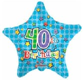 "18""  Happy 40th Birthday Star Balloon"
