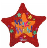 "18"" Colorful Stars Make a Wish Orange"