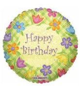 "9"" Airfill HBD Lattice Flowers Boarder"