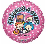 "18"" Friends 4ever Pink Girl Balloon"