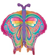 "36"" Multicolor Butterfly"