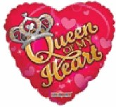 "18"" Queen of my Heart  Mylar Balloon"