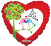 "18"" Be Mine Love Birds in Tree"