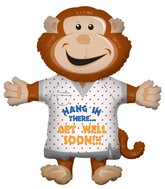 "36"" Get Well Soon Monkey Balloon"