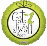 "18"" Get Well Soon Aligator Mylar Balloon"