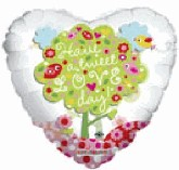 "18"" Have A Tweet Love Day Mylar Balloon"
