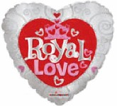 "18"" Royal Love Crown Silver Mylar Balloon"