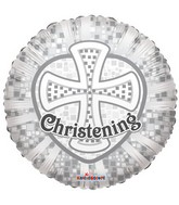"18"" Silver Cross Christening Balloon"