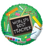 "18"" Best Teacher Elements Foil Balloon"