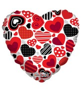 "18"" Decorative Hearts with Patterns"