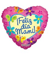 "18"" Feliz Dia Mani Retro Flowers (Spanish)"