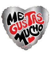 "4"" Me Gustas Mucho Balloon"
