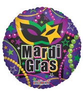 "18"" Mardi Gras Necklaces Mylar Balloon"