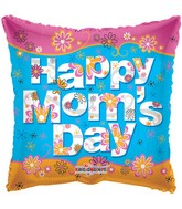 "18"" Happy Mom&#39s Day Mylar Balloon"