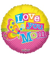 "18"" I Love You Mom Butterfly Balloon"