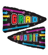"36"" You Did It Grad Pennant"