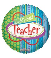 "18"" World&#39s Best Teacher Foil Balloon"