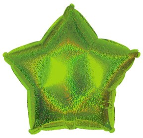 "18"" Lime Green Dazzleloon Star Balloon"