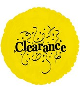 "18"" Clearance Balloon Yellow/Black"