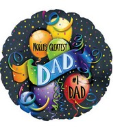 "18""  World&#39s Greatest Dad Balloon"