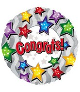 "17"" Congrats Stars On Stars Packaged"