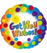 18&#39&#39 Get Well Dots & Swirls