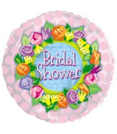 "17"" Bridal Shower Colorful Rose Wreath Packaged"