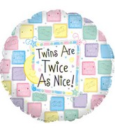 "18""Twins are Twice as Nice Pastel"