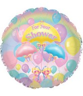 "18"" For Your Shower Balloons with Weight"
