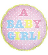 "9"" Airfill A Baby Girl Tiny Hearts M2"