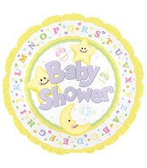 "9"" Airfill Baby Shower Moon & Stars M19"
