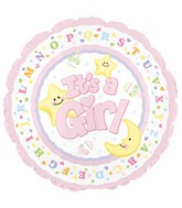 "9"" Airfill It&#39s A Girl Moon & Stars M20"